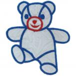 AUFNÄHER - Teddy - 00919 - Gr. ca. 9 x 7 cm - Patches Stick Applikation