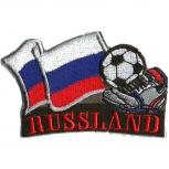 AUFNÄHER - Fußball - Russland - 77928 - Gr. ca. 8 x 5 cm - Patches Stick Applikation