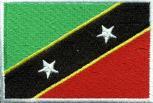 Aufnäher - St. Kitts u. Nevis Fahne - 21663 - Gr. ca. 8 x 5 cm