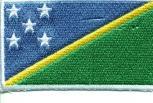 "AUFNÄHER ""SALOMONEN (Südpazifik)"" NEU Gr. ca. 8cm x 5cm (21653) Stick Patches Applikation - Länderflagge Fahne Nation"
