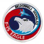 AUFNÄHER - F 15 Eagle - 00658 - Gr. ca. Durchmesser 8,5 cm - Patches Stick Applikation