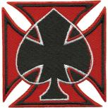 Aufnäher - Karte PIK schwarz - 01879 - Gr. ca. 7 x 7 cm - Patches Stick Applikation