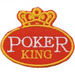 Aufnäher - Poker King - 03134 - Gr. ca. 10 x 7 cm - Patches Stick Applikation