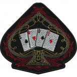 """Applikation Patches Aufnäher """"Spielkarten Herz"""" Gr. ca. 10,5cm x 10cm (03138) Kartenspiel Poker Spiel Karten"""