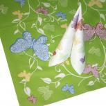 (29658) 3 TISCHDECKEN TISSUE mit Motiv • Schmetterling • NEU Gr. 80cm x 80m Tischdeko