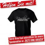 T-Shirt unisex mit Print - Menschen vor Profite - 10523 schwarz - Gr. S-XXL