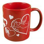 Tasse mit Print Love Herzen Engel rot 57464