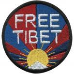 AUFNÄHER - Free Tibet - 01888 - Gr. ca. 7,5 cm - Patches Stick Applikation