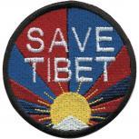 AUFNÄHER - Save Tibet - 01890 - Gr. ca. 7,5 cm - Patches Stick Applikation