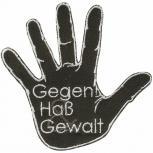 AUFNÄHER - Gegen Haß Gewalt - 00019- Gr. ca. 9 x 9 cm - Patches Stick Applikation