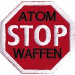 AUFNÄHER - Atom Stop Waffen - 00036 - Gr. ca. 7,5 x 7,5 cm - Patches Stick Applikation
