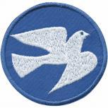 Applikation Patches AUFNÄHER - Friedenstaube Taube Peace Frieden - Gr. ca. 6cm (04929)