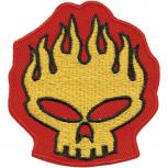 Aufnäher - Totenkopf Fire - 04757 - Gr. ca. 6,5 x 7 cm - Patches Stick Applikation