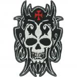 Aufnäher - Totenkopf - 06146 - Gr. ca. 6,5 x 9,5 cm - Patches Stick Applikation