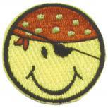 AUFNÄHER - Piraten-Smiley - 02171 - Gr. ca. 7 cm - Patches Stick Applikation