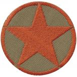 Aufnäher - Roter Stern - 04044 - Gr. ca. 7,5 cm - Patches Stick Applikation
