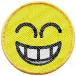 Aufnäher - Lachender Smiley - 21709 - Gr. ca. 6 cm - Patches Stick Applikation