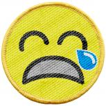 Aufnäher - Weinendes Smiley - 21715 - Gr. ca. 6 cm - Patches Stick Applikation