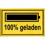 Aufnäher - 100 % geladen - 21716 - Gr. ca. 8 x 5 cm - Patches Stick Applikation