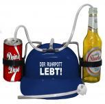Trinkhelm Spaßhelm mit Printmotiv - DER RUHRPOTT LEBT - 51675 - blau