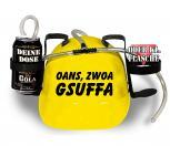 Trinkhelm Spaßhelm mit Printmotiv - OANS ZWOA GSUFFA - 51609 - versch. Farben zur Wahl