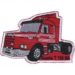 Aufnäher - Trucker rot - 04297 - Gr. ca. 11 x 7 cm - Patches Stick Applikation