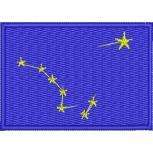 AUFNÄHER - USA - Alaska - 05532- Gr. ca. 8 x 5 cm - Patches Stick Applikation