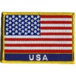 AUFNÄHER - Flagge USA - 04397 - Gr. ca. 9,5 x 6,5 cm - Patches Stick Applikation