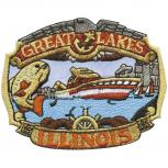 AUFNÄHER - Great Lakes Illinois - 04531 - Gr. ca. 8,5 x 7 cm - Patches Stick Applikation