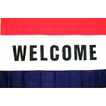 Deko-Trendflagge - WELCOME - Gr. ca. 150x90cm - 24339 - Flagge, Fahne