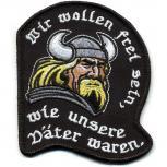 AUFNÄHER - Wikinger - 01641 - Gr. ca. 9 x 8 cm - Patches Stick Applikation