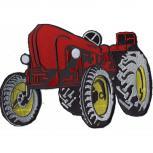 Rückenaufnäher - Traktor Diesel - 07451 rot - Gr. ca. 28 x 21 cm - Patches Stick Applikation