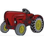 Rückenaufnäher - Traktor - 07452 - Gr. ca. 27,5 x 17,5 cm - Patches Stick Applikation
