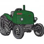 Rückenaufnäher - Traktor - 07458 - Gr. ca. 27 x 21 cm - Patches Stick Applikation