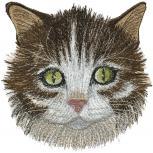 Aufnäher - Katzenkopf - 08571 - Gr. ca. 14,5 x 15,5 cm - Patches Stick Applikation