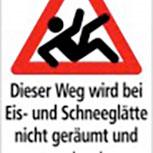 Hinweisschild - Winterdienst Eis-u. Schneeglätte - 308757 - 50cm x 30cm
