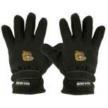 Handschuhe Fleece mit Einstickung Bulldogge braun 31523 schwarz