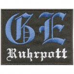 Aufnäher Patches Applikation Wappen - GE RUHRPOTT - 03215 - ca. 8,5 x 7 cm