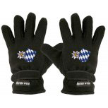 Handschuhe Fleece mit Einstickung Edelweiss und Bayernraute 31507 schwarz