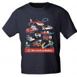 T-Shirt unisex mit Print - DIE STARKEN HELFER - 10877 dunkelblau - Gr. L-XXL
