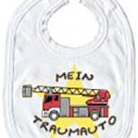 Baby-Lätzchen mit Druckmotiv  - Mein Traumauto... - 07046 - weiss