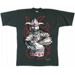 T-Shirt unisex mit Print - WIKINGER-MOTIV - Kollektion Milosch - 92001 schwarz - Gr. S-XXL