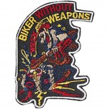 Aufnäher- BIKER without WEAPONS - 04960 - Gr. ca. 7 x 11,5 cm - Patches Sticker Applikation