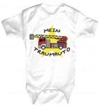 Babystrampler mit Print - Feuerwehr - MeinTraumauto - 08394 weiß - Gr. 0-24 Monate