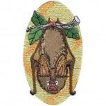 Aufnäher - Fledermaus - 00378 - Gr. ca. 5,5cm x 10cm