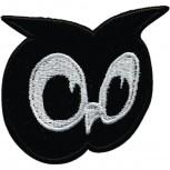 Aufnäher - Eule schwarz - 01893 - Gr. ca. 6cm x 5,5cm