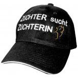 Baseballcap mit Einstickung Schäferhund Züchter sucht Züchterin Pfote 69722 schwarz