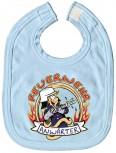 Baby-Lätzchen mit Druckmotiv  - Feuerwehr Anwärter - 07011 - hellblau