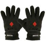 """(40385-56516) Fleece Handschuhe mit Einstickung """"KARO ROT"""""""