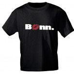 T-Shirt unisex mit Aufdruck - BONN - 09313 schwarz - Gr. S-2XL
